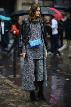 #StreetStyle #Knit #Layering #Style #Outfit #Chanel #Leather #Jacket