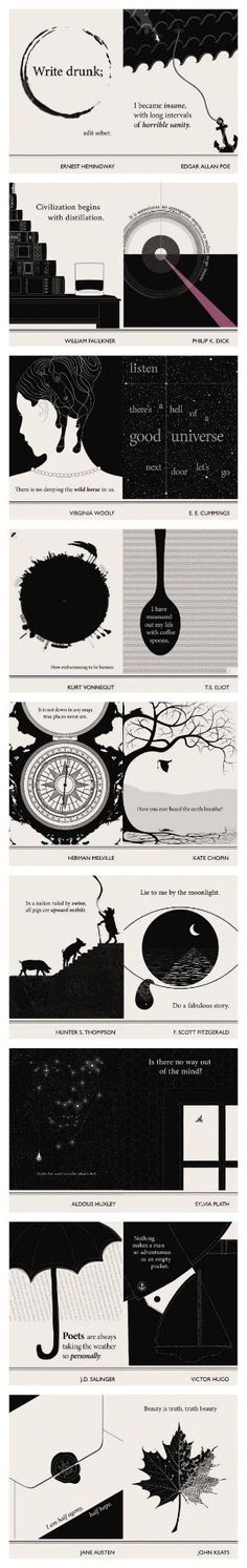 Lovely Literary Art Prints featuring quotes By Famous Authors by Evan Robertson by Tayshort