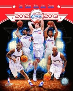 Los Angeles Clippers 2012-2013 NBA Team Composite Photo 8x10 by NBA. $6.99. Custom cropped on high gloss photographic paper, this officially licensed 8x10 composite photo celebrates the 2012-2013 LA Clippers with images of key contributors: Chris Paul, Blake Griffin, Chauncey Billups, DeAndre Jordan, and Caron Butler.  Official NBA and NBPA logos as well as a sequentially numbered official licensing Hologram appear upon photograph.  This is not a mass produced copy.  It was ...