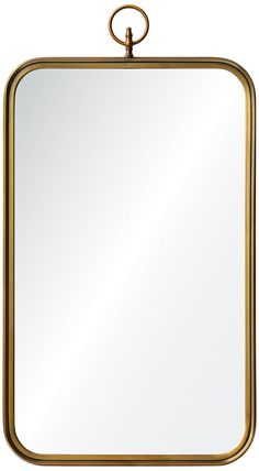Coburg Golden Brass x Rectangular Wall Mirror - Narrow Bathroom, Brass Bathroom, Beach Bathrooms, Bathroom Mirrors, Wall Mirror, Master Bathroom, Bathroom Renovations, Home Remodeling, Victorian Design