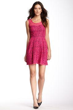 Betsey Johnson Sleeveless Lace Skater Dress by Betsey Johnson on @nordstrom_rack