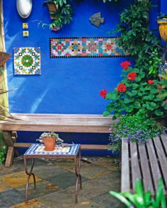 Moroccan magic With a splash of paint, mosaic panels and plants tumbling out of…