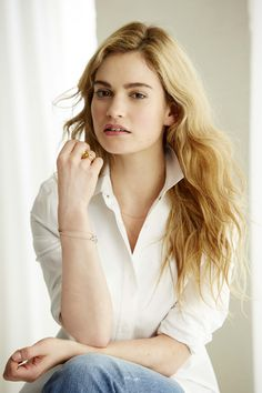 Lily James, 2015- reminds me of a young Jessica Lange