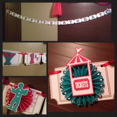 More carnival birthday pictures!! #cricut #carousel #banner