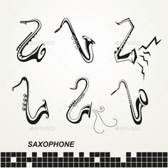 Saxophones Set