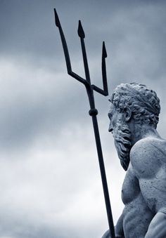 Poseidon, in Greek religion and mythology, is the god of the sea, protector of all waters. After the fall of the Titans, Poseidon was allotted the sea. He was worshiped Percy Jackson, Art Sculpture, Sculptures, Heroes Of Olympus, Greek Gods, Gods And Goddesses, Ancient Greece, The Little Mermaid, Photos