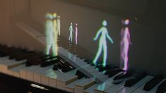 Animated characters on the piano to visualize musical motion