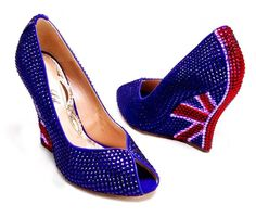 """Union Jack"" wedge by Aruna Seth Love me some Britain :)"