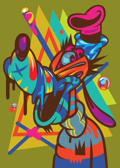 Pichet Rujivararats colorful illustrations