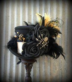 Steampunk Couture, Steampunk Hat, Steampunk Wedding, Steampunk Clothing, Steampunk Necklace, Steampunk Fashion, Mad Hatter Top Hat, Mad Hatter Tea, Spider Queen