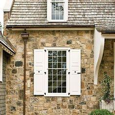 48 Super ideas for exterior window shutters southern living Siding Colors For Houses, Exterior Siding Colors, House Paint Exterior, Exterior Design, Window Shutters Exterior, White Shutters, Exterior Doors, Diy Shutters, Style At Home