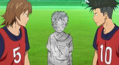 """Days (TV) soccer anime """"This is no time to turn to stone"""""""