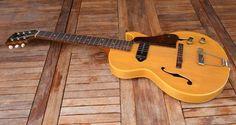 1956 Gibson ES140 ES-140 3/4T Vintage Electric Guitar Natural Blonde Finish