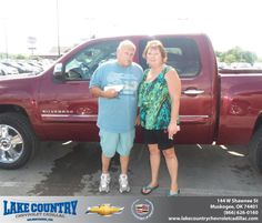 #HappyAnniversary to David Pinkerton on your 2013 #Chevrolet #Silverado 1500 from Katie  Butler  at Lake Country Chevrolet Cadillac!