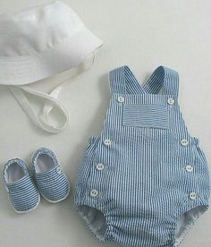 Baby Sunsuit, Sunhat and Espadrilles – Patricia Smith Designs by polly – babykleidung ideen Trendy Baby Boy Clothes, Diy Clothes, Baby Boy Fashion, Kids Fashion, Fashion Outfits, Baby Boy Outfits, Kids Outfits, Baby Sewing, Baby Dress