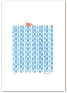 Whale limited edition silkscreen print  cerulean by mengseldesign, $72.00