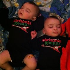 2011 Twins first Christmas! Blake and Brayden