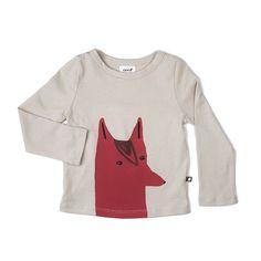 Oeuf NYC Fox Tee Shirt-light grey - CLOTHING #FW15 #AW15 Fall Winter 2015