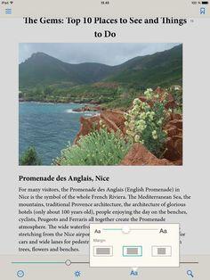 Adobe Digital Editions ereading app on the Apple iPad, menu