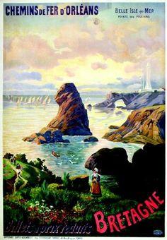 chemins de fer d'orléans - Bretagne - Belle Isle en Mer. Pointe des Poulains -