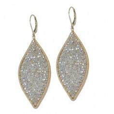 The most amazing earring!!!!!! White sparkle earrings on Fragments.com