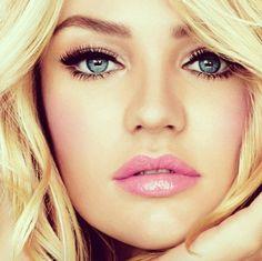 Pretty pink lips.