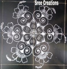 Simple Rangoli Designs Images, Beautiful Rangoli Designs, Kolam Designs, Free Hand Rangoli Design, Muggulu Design, Diwali Rangoli, Rangoli With Dots, Traditional, Youtube
