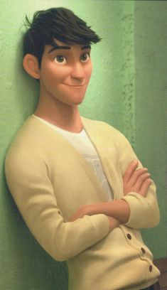 It's official. He is for sure my new favorite Disney character <3 <3 <3 Tadashi Hamada from big hero 6.  A very attractive animated character