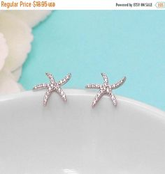 SALE Ends Friday Starfish Earrings, Star Fish Stud Earrings, wedding earrings, crystal earrings, crystal CZ earrings bridal jewelry, earring by AllureWeddingJewelry on Etsy https://www.etsy.com/listing/498747136/sale-ends-friday-starfish-earrings-star