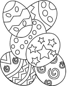 Easter Eggs Coloring Printable Sheet Ill Probably Turn It Into A Color By Number Or Word Activity