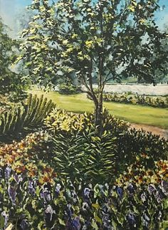 Galina Payne Government Garden Acrylic on canvas Golf Courses, Vineyard, Canvas, Garden, Plants, Outdoor, Tela, Outdoors, Lawn And Garden