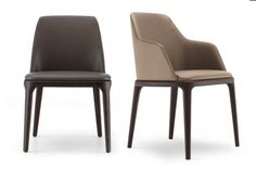 Grace is a contemporary chair, designed by Emmanuel Gallina for Poliform, with an aesthetic element in line with the most current trends of living. Patio Chair Cushions, Patio Chairs, Side Chairs, Bag Chairs, Leather Dining Chairs, Dining Table Chairs, Chair Design, Furniture Design, Retro Office Chair