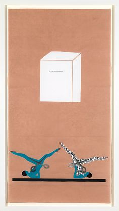 Frances Stark - Unformed Form, 2007 Gouache on paper, collage and paper on rice paper 145 × 79 cm