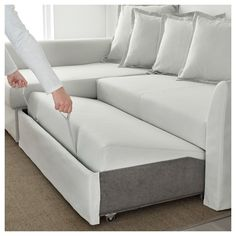 HOLMSUND Sleeper sectional, - Orrsta light white-gray - Mountain home - Living Room Table Small Sectional Sofa, Sleeper Sectional, Small Chaise Sofa, Modular Sofa Bed, Small Sleeper Sofa, Futon Sofa Bed, Sofa Cama Ikea, Sofa Bed For Small Spaces, Cool Ideas