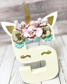 Inicial unicornio de Letters™ cumpleaños de unicornio