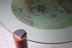 Designer Tables - ST4C Glass Table, Glass Design, Glass Door, Fused Glass, Tables, Mesas, Glass Table Top, Glass Doors