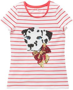 Indigo Collection Cotton Rich Sequin Embellished Dalmation Girls T-Shirt with StayNEW (5-14 Years) £7 42% OFF! #bestdressed #fashion #ukhd #style #deal http://www.bestdressed.co.uk