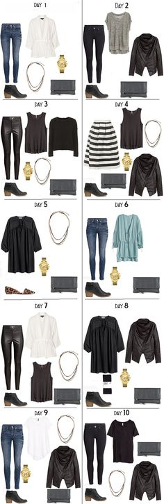 10 Days in Stockholm Sweden Packing Light List Night Looks #packinglight…