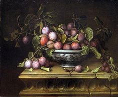 Pierre Dupuis  Still Life with Plums  1666