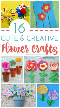 Cute & Creative Flower Crafts for Kids