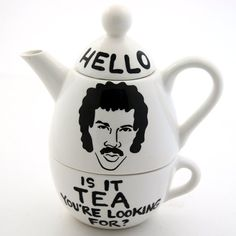 Lionel Ritchie teapot. 43 Awesome Things You Need For Your Kitchen Look cool while you burn the toast… check outour list on BuzzFeed.