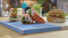 Le bar à sandwich | Cuisine futée, parents pressés Sandwich Bar, Taco Burger, Cold Meals, Wrap Sandwiches, Sushi, Tacos, Lunch Box, Healthy Eating, Appetizers