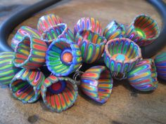 Polycat's Cup bead from cane - #Polymer #Clay #Tutorials