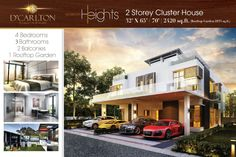 CLUSTER Houses frm RM$1,088,000  Prices are so affordable that you can own a Landed as a retirement home or weekend getaway.  Viewing appt can be arrange  Whatsapp/Sms/Call 8522 4244 \ 9272 6860  Frankie Tan  Property Details **************** D' Carlton Heights ( Corner unit )  Type: 2-storey + 1 Roof Garden Land area:53' X 70' 2,420 sf + 1,033 sf Roof Garden 4-bedroom, 3-bathroom, 2-balcony  Unique Selling Points: ********************* - Developer aimed to build HIGH END & LOW DENSITY…