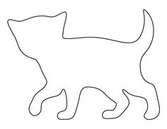 Kitten pattern. Use the printable outline for crafts, creating stencils, scrapbooking, and more. Free PDF template to download and print at http://patternuniverse.com/download/kitten-pattern/