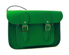 'Notting Hill' Emerald Green 11 inch - Tom Brown Shoulder Satchel - Wicked! £70