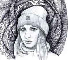Portraits by Kseniia Iakovleva at Coroflot.com