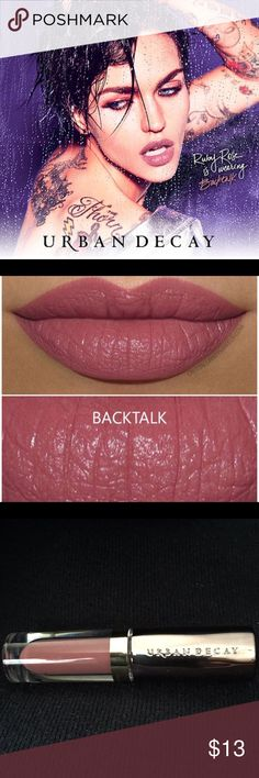 """NEW URBAN DECAY """"BACKTALK"""" VICE LIQUID LIPSTICK No trades. AUTHENTIC NEW DELUXE URBAN DECAY 'BACKTALK' VICE LIQUID LIPSTICK! Put on this Comfort Matte Lipstick and get ready for your newest VICE. This waterproof, long lasting formula lays down intense pigmented comfortable color with INSANE wear! One tip is to line the lips and apply only one coat to fill do not press the lips together. Let dry. If you want, apply a second coat and let dry completely. *Deluxe travel or purse size - 0.75 ml…"""