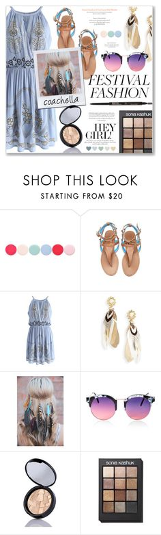 """""""Festival fashion: Coachella #2"""" by annabmikkelsen ❤ liked on Polyvore featuring Nails Inc., Chicwish, Gas Bijoux, Topshop, Anastasia Beverly Hills and Sonia Kashuk"""