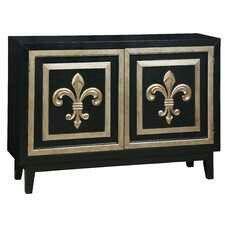 Black&gold fleur de lis sideboard console table #fleur de lis<3